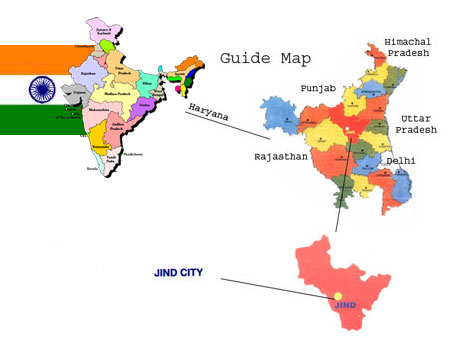 Guide Map of Distt Jind